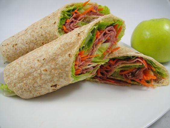Ham Apple Carrot Wraps – Healthy Wraps