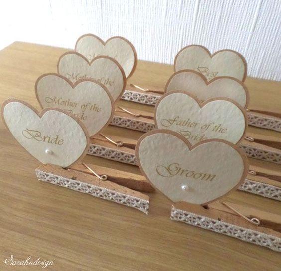 Tischkarten Zur Hochzeit Ideen Herzchenschilder Tischkarten Hochzeit Hochzeitskarten Ideen Namenskarten Hochzeit