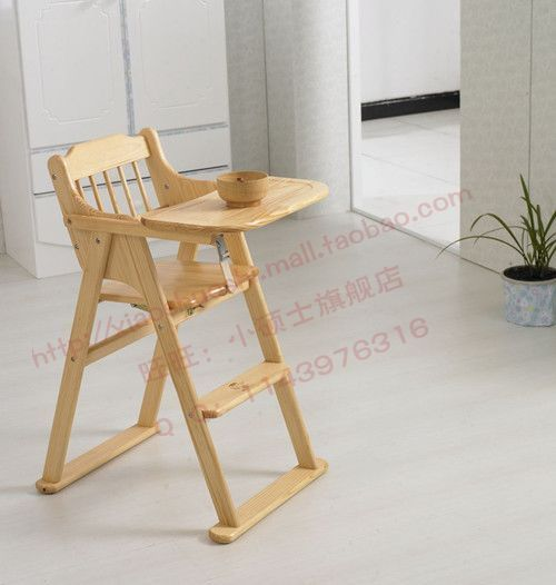 Wooden Child Dining Chair Baby Table High Chair Multi