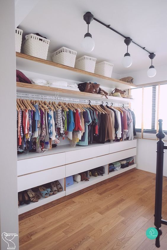 10 Genius Closet Organization Ideas For Space Management Here Are Some Amazing Closet Organ Small Space Storage Bedroom Scandinavian Home Wardrobe Organisation