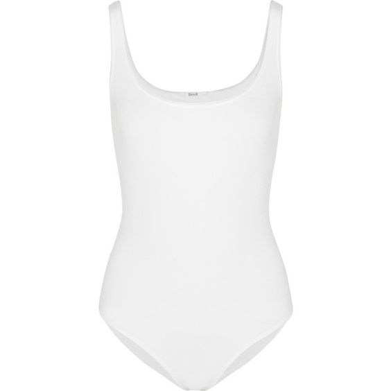Wolford Jamaika stretch-jersey bodysuit ($140) ❤ liked on Polyvore featuring intimates, shapewear, bodysuit, tops, underwear, body and lingerie