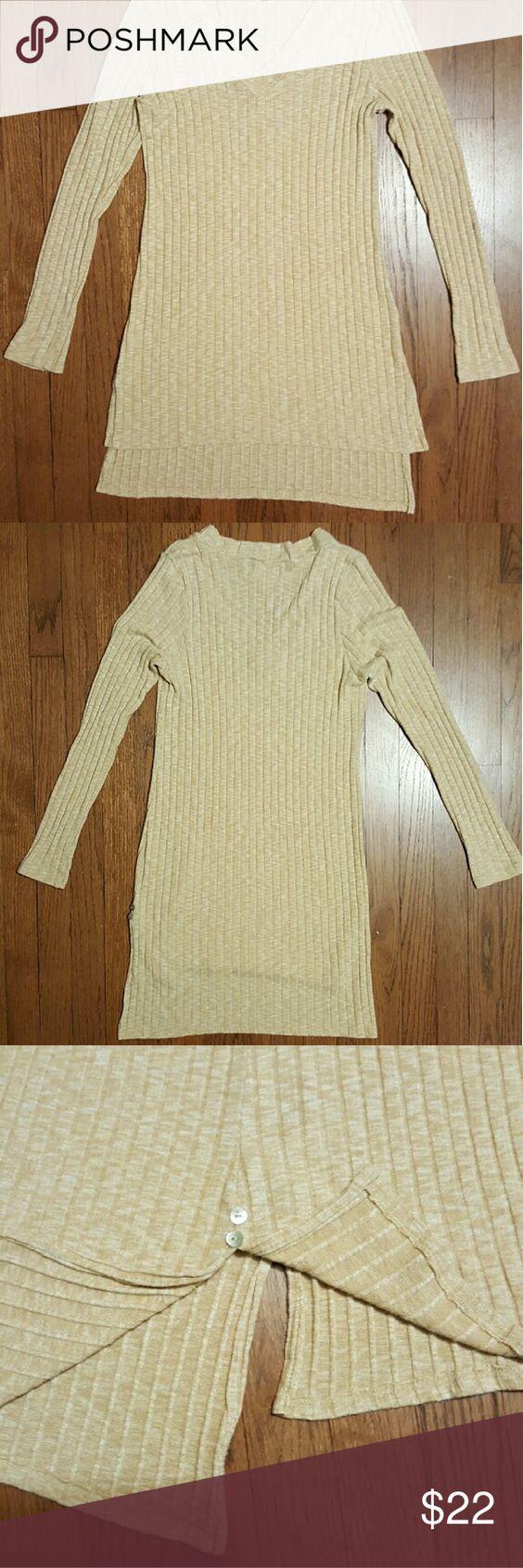 Anthropologie Deletta Tunic Sweater Tan Heather Sweater Tunic NWOT ...