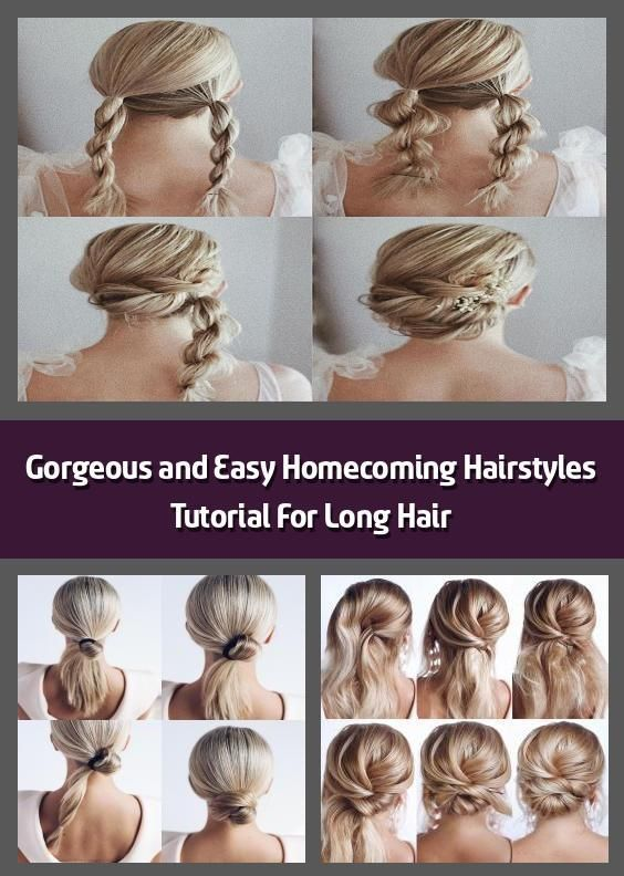 Beautiful And Simple Tutorial For Homecoming Hairstyles For Long Hair S Beautiful And Simple Tutori In 2020 Homecoming Hairstyles Long Hair Styles Hair Styles