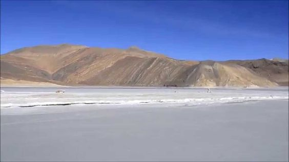 Do you know that #Pangong #Lake remains frozen from #December till #March during #winters? Are you in to visit #Ladakh this winter?  Info- http://bit.ly/1OS3P3X #travel #ttot #Ladakhescapes #tourpackages