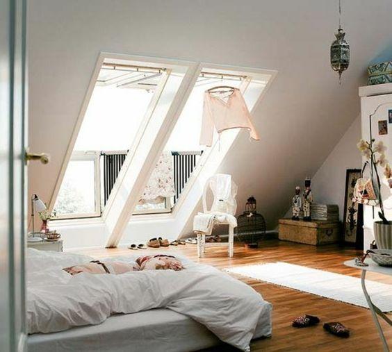 Fenetres sur le toit dans une chambre suite parentale sous for Chambre parentale
