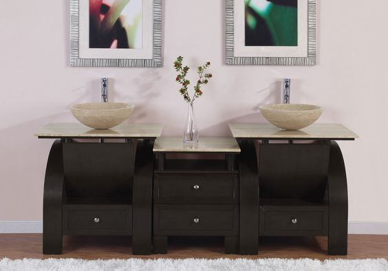 "Niagara 77"" Double Bathroom Vanity Set"