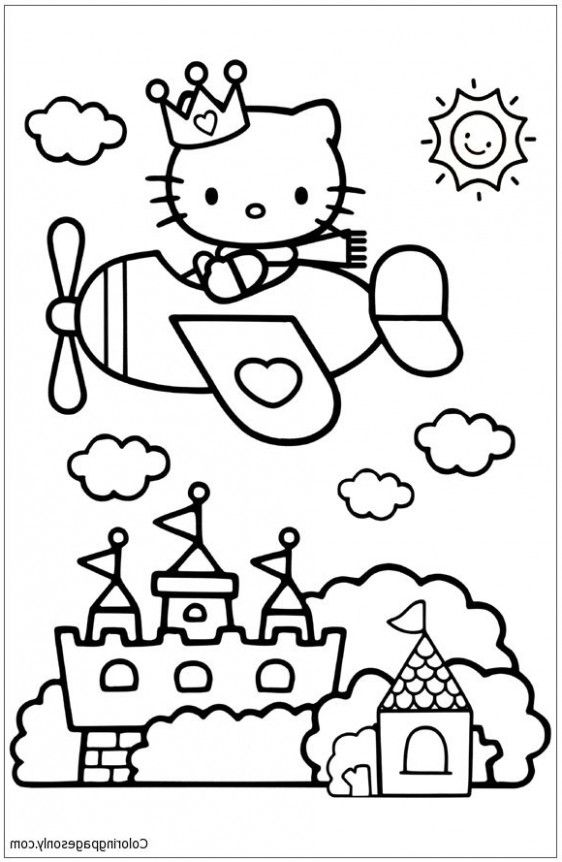 Everything You Need To Know About Hello Kitty Coloring Pages Airplane Hello Kitty Coloring Hello Kitty Colouring Pages Kitty Coloring