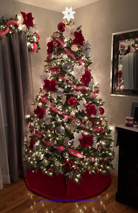 Lovely Christmas Tree Decoration Ideas Xmastree Christmastreedecoratio In 2020 Christmas Tree Decorations Christmas Tree Decorating Themes Christmas Tree Inspiration