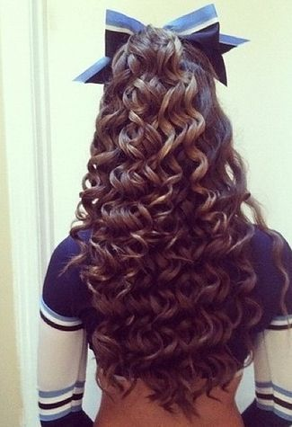 Your hair probably looked like this at games or competitions. | 35 Things Every Cheerleader Will Understand #cheer #cheerleader #cheerleading: