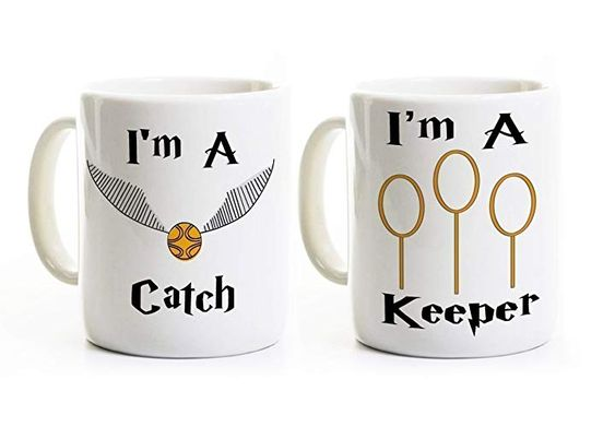 The catch and keeper matching mugs -19 practical gifts for him - OurMindfulLife.com