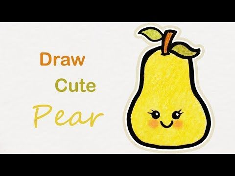 تعلم الرسم كيف ترسم كمثرى خطوة بخطوة للاطفال Youtube Art For Kids Drawing For Kids Art