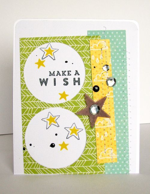 Make A Wish Card by Nicole Nowosad featuring Jillibean Soup Mushroom Medley and Shape Shakers Stamps: