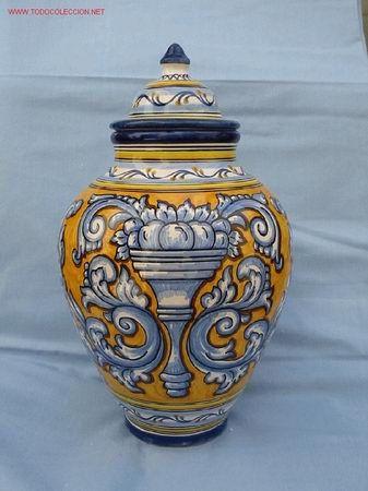Preciosa orza de ceramica renacentista talavera de la for Ceramica talavera madrid