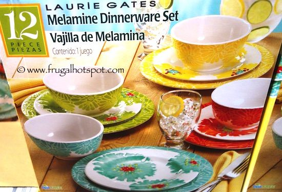 pandex laurie gates 12piece melamine dinnerware set costco kitchen housewares pinterest melamine dinnerware sets - Melamine Dishes