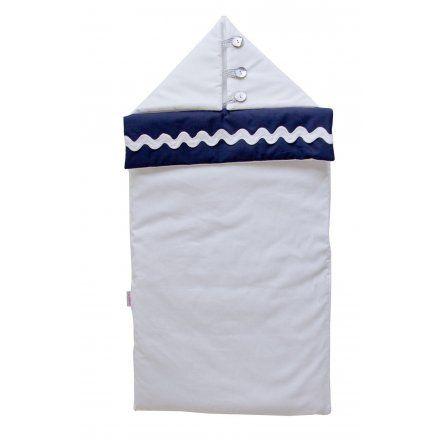 Nid d 39 ange marine et blanc accessoire chambre de bebe for Accessoire chambre bebe