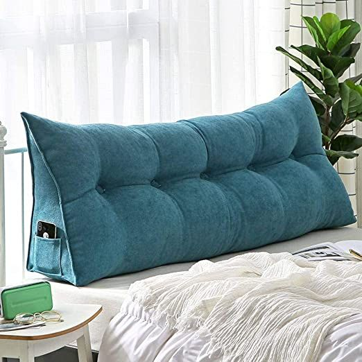 Gopg Cotton Reading Pillow Nordic Solid Color Living Room Bedroom Soft Removable Wedge Pillow Backrest Pillow F Bed Backrest Cushions On Sofa Pillow Headboard