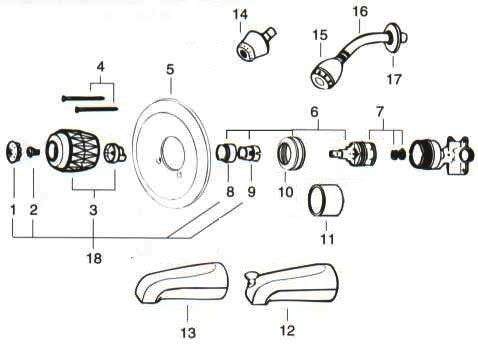 Bathtub Shower Faucet Parts Valley Back To Back Tub Shower Replacement Parts Delta Tub Shower Faucet Parts Shower Faucet Faucet Parts Tub And Shower Faucets