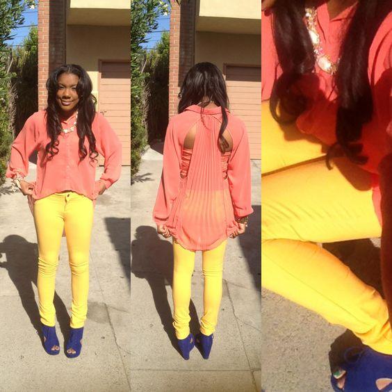 super glam con estos yellow jeans