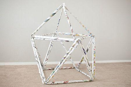 Como hacer una casa de papel para los niños