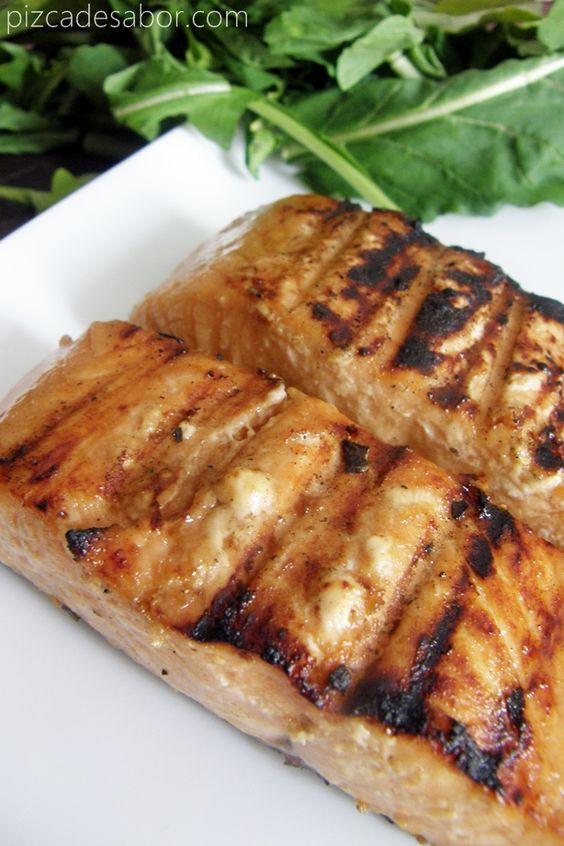 Salmón con miel y jengibre | http://www.pizcadesabor.com/2013/04/11/salmon-con-miel-y-jengibre/