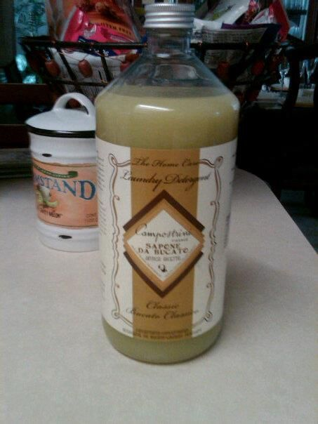 Italian Laundry Detergent that I adore...it smells really great