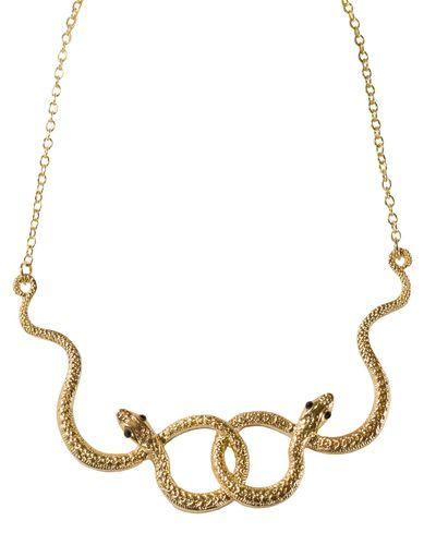 Golden Boa Necklace
