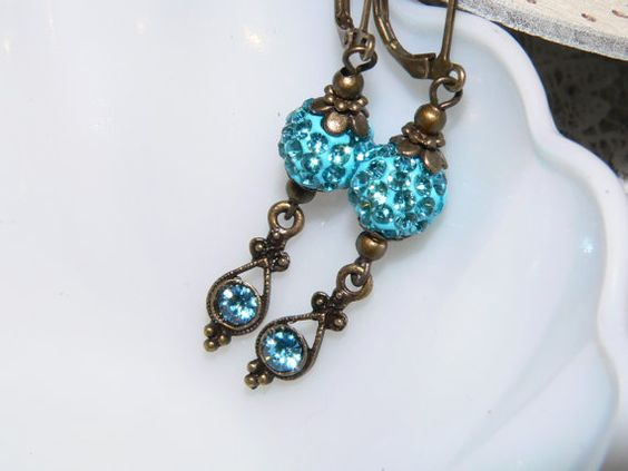 Pave Crystal dangle Leverback Earrings  Light by judysmithdesigns, $18.00