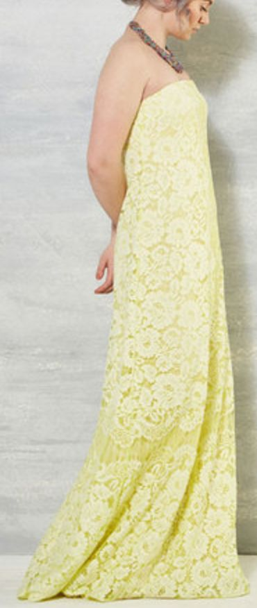 Yellow Lace Maxi Dress
