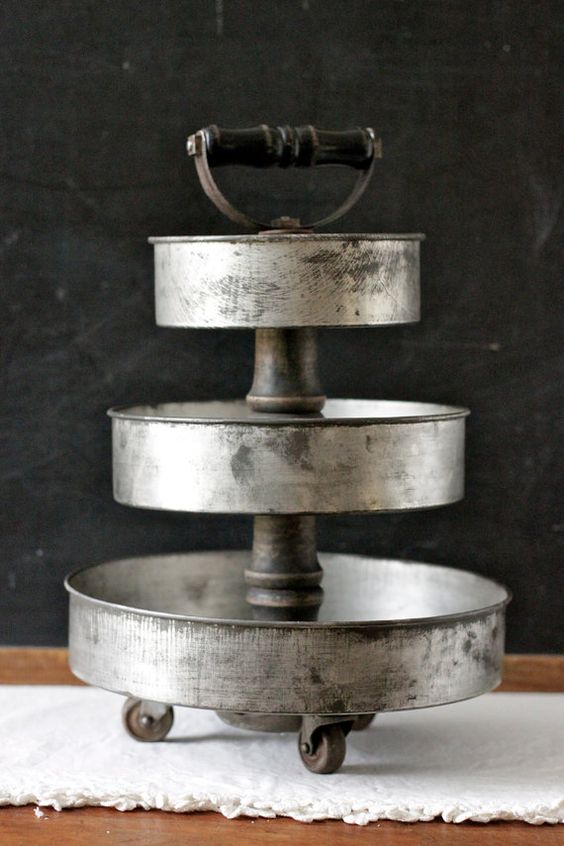 3 Tier Art Supply Desk Organizer made from Vintage Cake ...