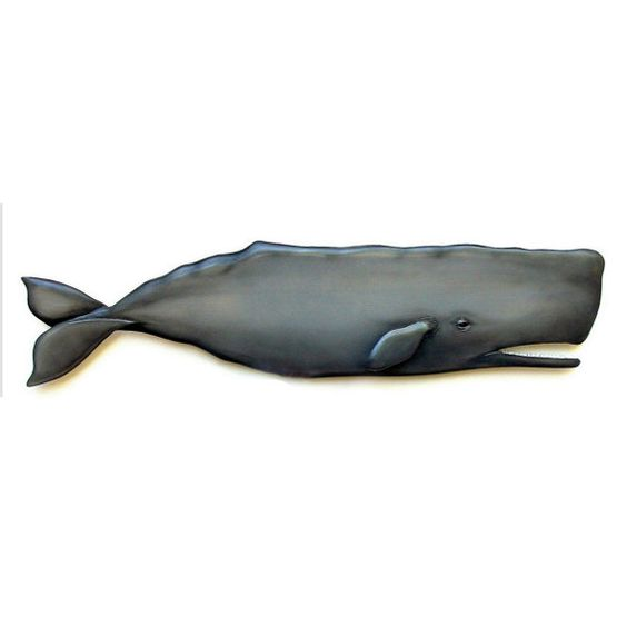 Sperm Whale 48 In Art Wood Sculpture Collectible Whale