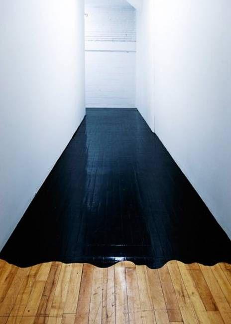 holzboden in schwarz streichen floor pinterest. Black Bedroom Furniture Sets. Home Design Ideas