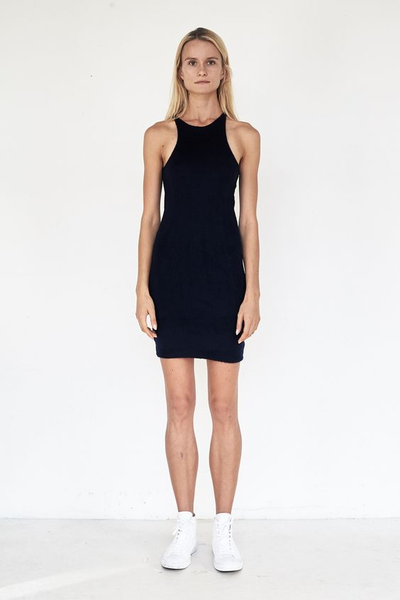 Poly Interlock Tank Dress