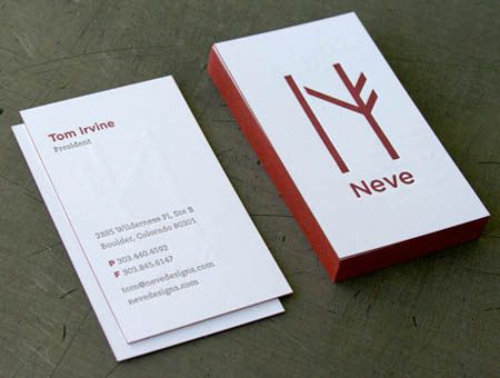 business card letterpress