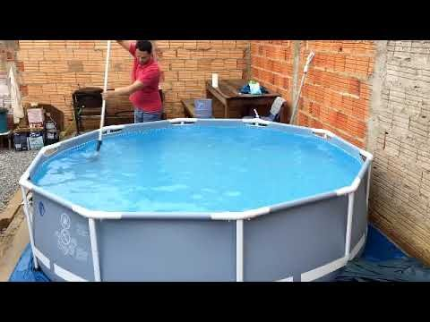 Limpeza Tratamento Da Agua Piscina Intex 4485 Litros Youtube En