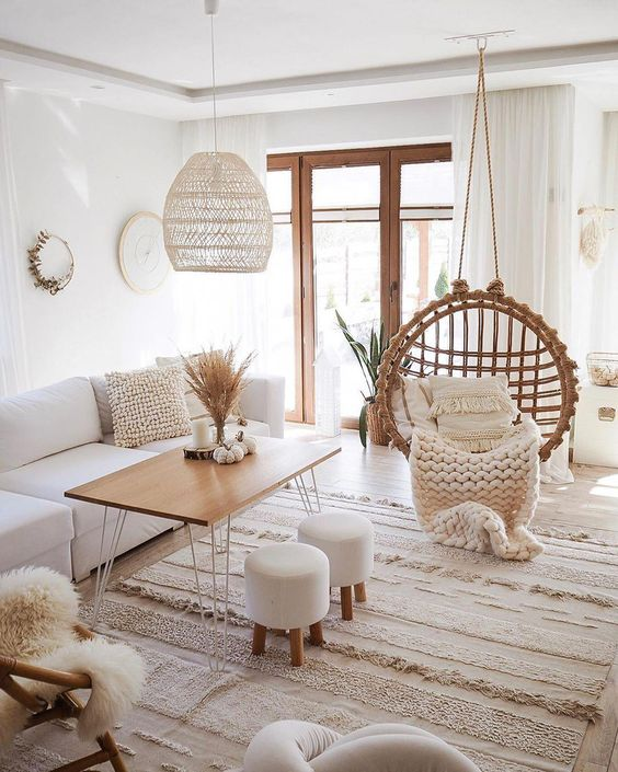 "Time to swing and relax�� ""Have an empty corner in a room? Can't find the right accent chair? Add a fun statement with #eggchairs #teardropchair in any room."" ⠀ �� .@domekzalasem #HammockTown #HangingChair #JustHangIt #bohohomedecor"