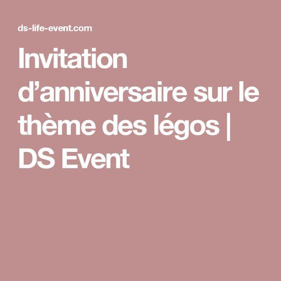 Invitation d'anniversaire sur le thème des légos | DS Event