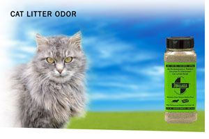 Smelleze® Eco Cat Litter Smell Removal Additive removes cat litter odor without masking with harmful fragrances. Cat litter smell doesn't stand a chance. Safe for people, pets & planet. This eco-friendly cat litter urine odor remover deodorizer really works!