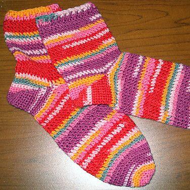 Crochet Socks Patterns Toe Up : Toe-Up Crochet Socks by KRW Knitwear Products, Crochet ...