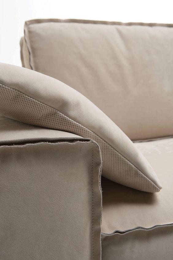 Cucitura al taglio vivo per divani in pelle moderni Tino Mariani ...