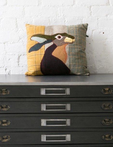 Hare Applique Cushion