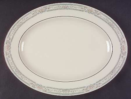 "Lenox China Charleston at Replacements, Ltd 13"" 99 shape oval serving platter"