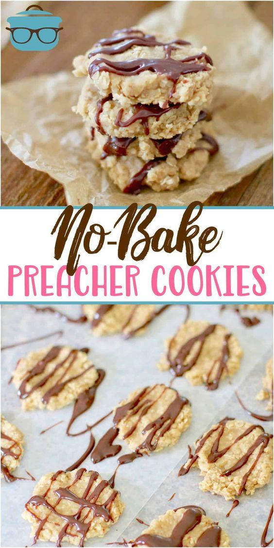 No-bake preacher cookies