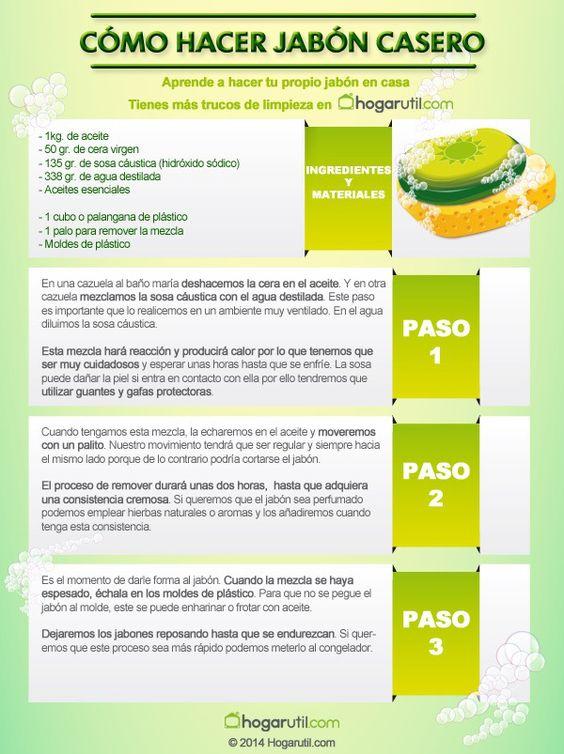 Como hacer jab n casero con aceites esenciales jab n - Formula para hacer jabon casero ...