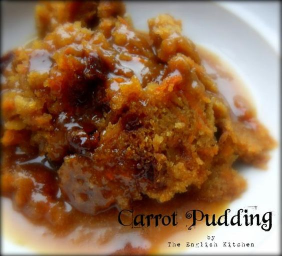 Carrot Pudding with A Brown Sugar Sauce | The English Kitchen (photo SDC14192_zps0ddb7a43.jpg)