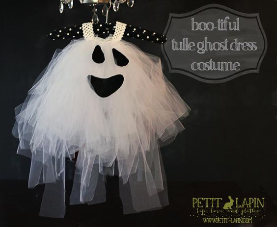 tulle ghost dress costume (infant or adult)
