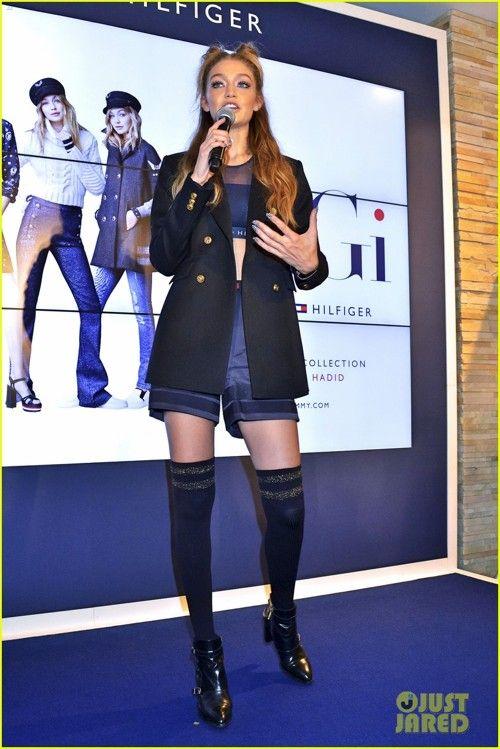 Gigi Hadid Tommy Hifiger Omotesando's Promoshow in tokyo