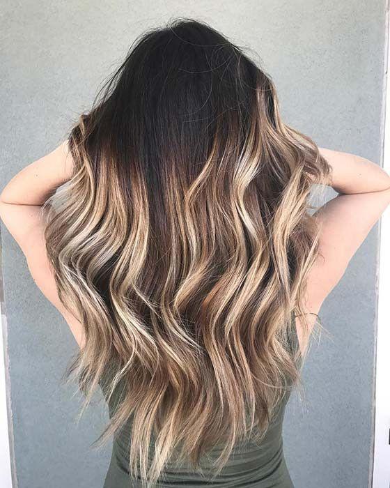 Strähnen schwarze haare blonde singhorbofa: Schwarz