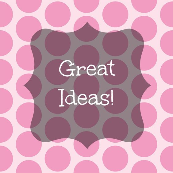 Great ideas.