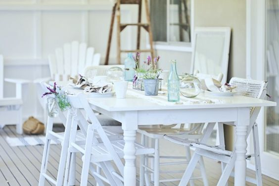 Love the different chairs in the same color. Going to do this in kettle black.