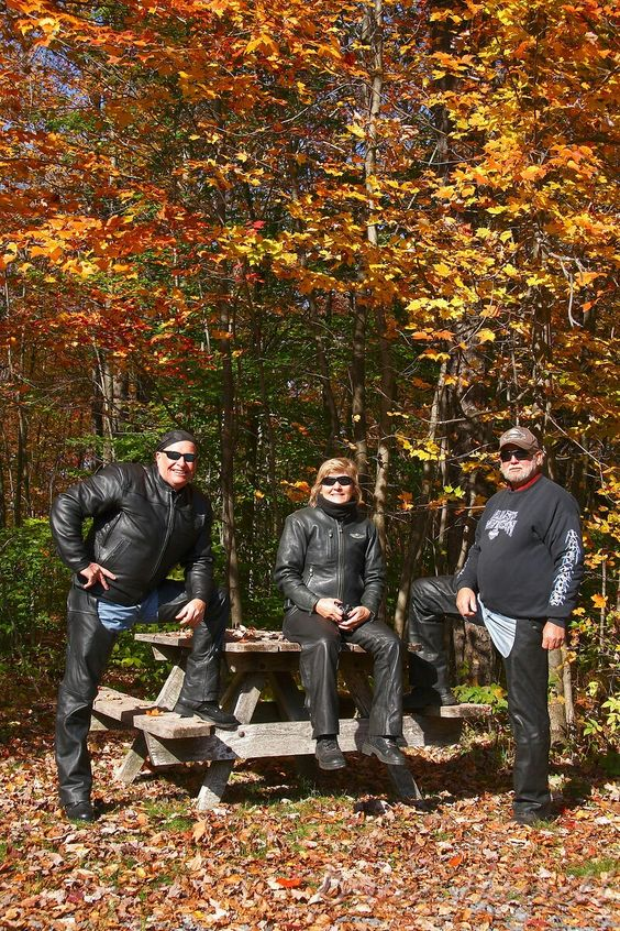 IMG#5625-The Drivers...Ben, Geri, and Jim. Experiencing the glory of Fall in Pennsylvania...Oct 10, 2010.
